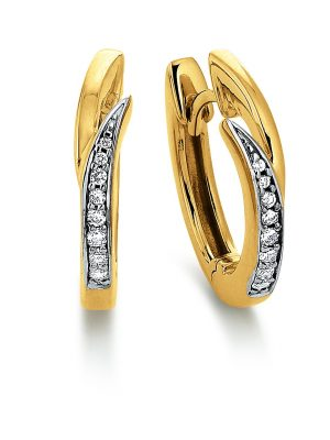 Viventy 780514 Ohrringe Creolen Damen Zirkonia Silber Gelbgold Vergoldet