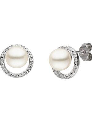 Viventy 782514 Ohrstecker Damen Perle Swarovski Zirkonia Silber