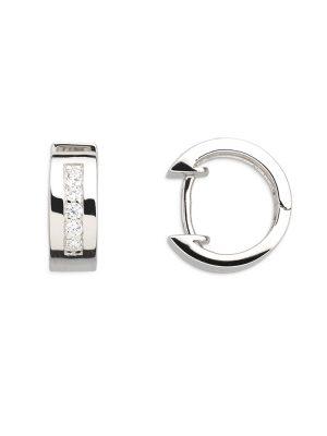 Xenox XS8520 Ohrringe Creolen Modern Classic Silber Zirkonia Ø13 mm