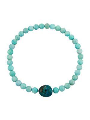 Amazonit-Collier Diemer Farbstein Blau