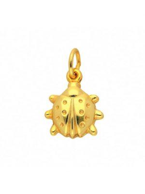 Damen Goldschmuck 585 Gold Anhänger Marienkäfer 1001 Diamonds gold