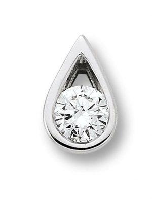 Damen Schmuck Anhänger aus 585 Weißgold mit 0,10 ct Diamant One Element silber