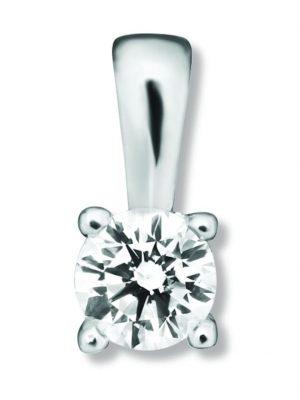 Damen Schmuck Anhänger aus 585 Weißgold mit 0,20 ct Diamant One Element silber