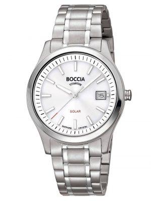 Damen Solar-Armbanduhr Titan mit Saphirglas Boccia Weiß