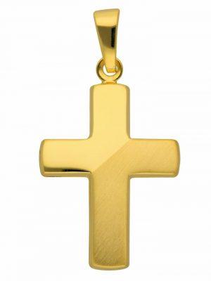 Damen & Herren Goldschmuck 585 Gold Kreuz Anhänger 1001 Diamonds gold