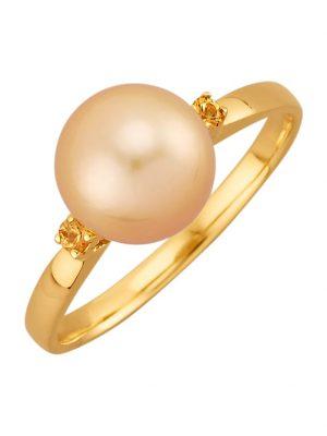 Damenring Diemer Perle Gelbgoldfarben
