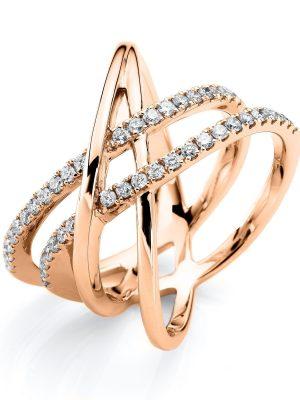 DiamondGroup Ring - Brillant Rosegold 750 - c42-11890