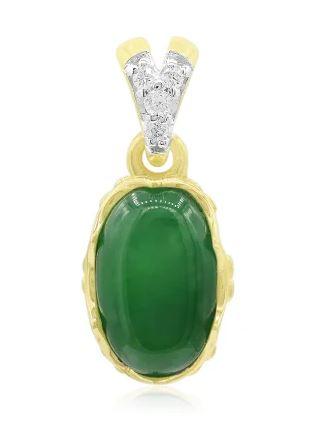 Goldanhänger mit Jadeit