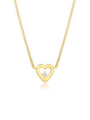 Halskette Herz Liebe Love Diamant (0.03 Ct.) 925 Silber DIAMORE Gold