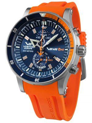 Herrenuhr VEareONE Special Edition Blau/Orange Vostok Europe Blau