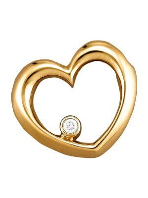 Herz-Anhänger Diemer Diamant Gelbgoldfarben