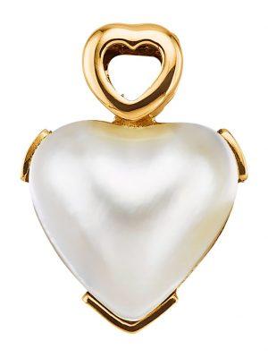 Herz-Anhänger Diemer Perle Weiß