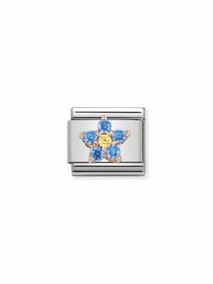 Nomination Charm - Blume Hellblau und Gelb - 430317/02