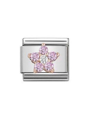 Nomination Classic - Blume rosa und weiß - 430317/04