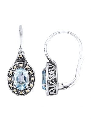 Ohrringe in Silber 925 Esse Blau