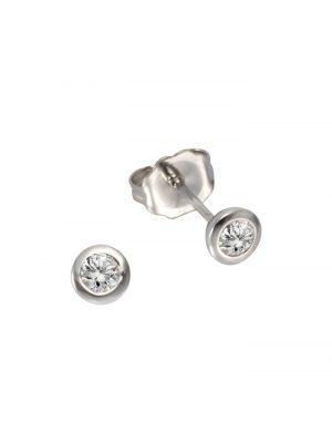 Ohrstecker 925/- Sterling Silber Brillant weiß Brillant 1,1cm Glänzend 0,20ct. Diamonds by Ellen K. weiß