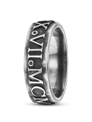 Ring Antique Century aus 925 Sterling Silber mit Spinellen-60