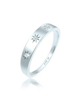 Ring Verlobung Astro Diamant (0.06 Ct.) 585 Weißgold DIAMORE Silber