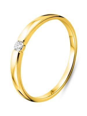 Ring aus 750 Gold mit 0.05 Karat Diamant-50