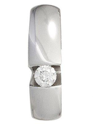 SIGO Anhänger 585 Gold Weißgold 1 Diamant Brillant 0,10ct. Weißgoldanhänger