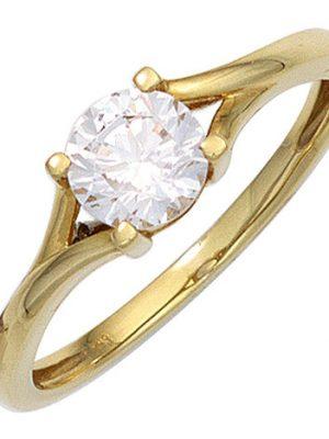 SIGO Damen Ring 333 Gold Gelbgold 1 Zirkonia Goldring