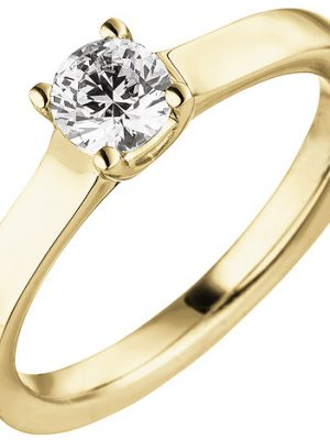 SIGO Damen Ring 585 Gold Gelbgold 1 Diamant Brillant 0,50 ct.Diamantring Solitär