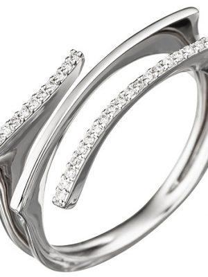 SIGO Damen Ring 585 Gold Weißgold 32 Diamanten Brillanten Weißgoldring