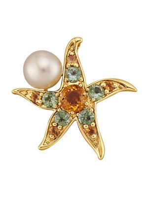 Seestern-Anhänger Diemer Perle Multicolor