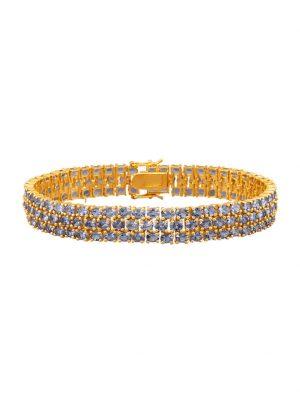 Tansanit-Armband Diemer Farbstein Blau
