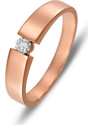 Valeria Damen-Damenring 375er Rotgold 1 Diamant