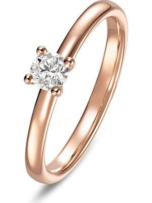 CHRIST Diamonds Damen-Damenring 585er Rotgold 1 Diamant CHRIST Diamonds Rotgold