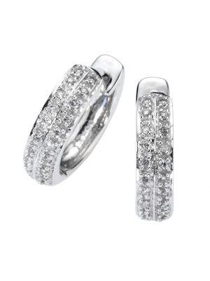 Creolen 585/- Gold Diamant weiß Diamant 1,3cm Glänzend 0,10 Karat Diamonds by Ellen K. weiß