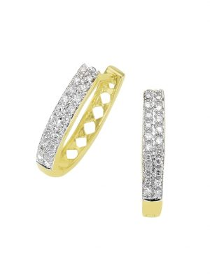 Creolen 585/- Gold Diamant weiß Diamant 1,8cm Glänzend 0,20 Karat Diamonds by Ellen K. gelb