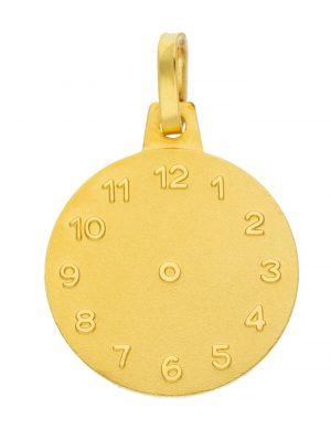 Damen Goldschmuck 585 Gold Anhänger Taufuhr Ø 14,1 mm 1001 Diamonds gold