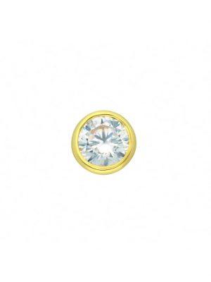 Damen Goldschmuck 585 Gold Anhänger mit Zirkonia Ø 7 mm 1001 Diamonds gold