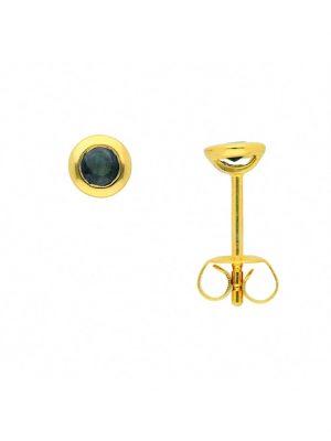 Damen Goldschmuck 585 Gold Ohrringe / Ohrstecker mit Safir 1001 Diamonds blau