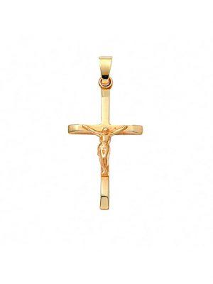Damen & Herren Goldschmuck 585 Gold Kreuz Anhänger Korpus 1001 Diamonds gold