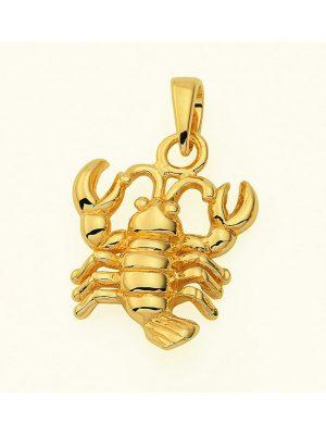 Damen & Herren Goldschmuck 585 Gold Sternzeichen Anhänger Krebs 1001 Diamonds gold