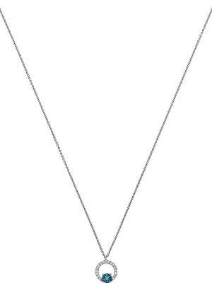 Damen-Kette 375er Weißgold 17 Diamanten
