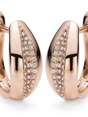 DiamondGroup Creolen - Brillant Rosegold 585 - c98-10191