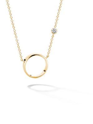 FJF JEWELLERY Halskette - Circle II - FJF0010009YWH