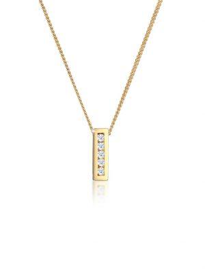 Halskette Klassisch Elegant Diamant (0.075 Ct.) 585 Gelbgold DIAMORE Gold