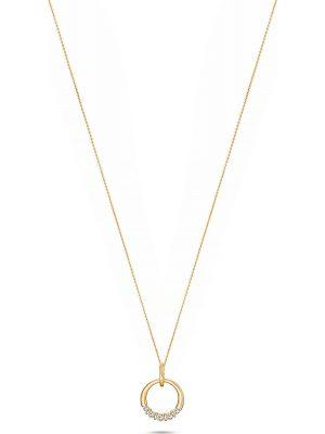 Halskette mit Anhänger aus 375 Gelbgold