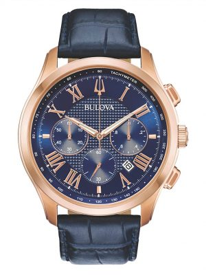 Herrenuhr-Chronograph Bulova Blau
