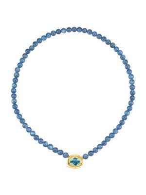 Kyanit-Kette Diemer Farbstein Blau