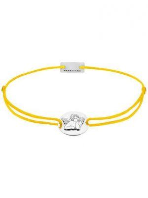Momentoss Filo Armband - Textil - Gelb - Silber rhodiniert - Schutzengel - 21202163