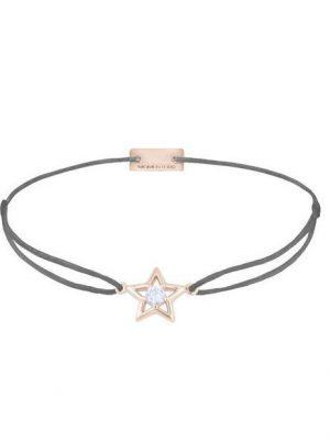 Momentoss Filo Armband - Textil - Grau - rosevergoldet - Stern - 21204189 grau