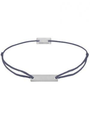 Momentoss Filo Armband - Textil - Lila Grau - Silber - Eckig - 21200044