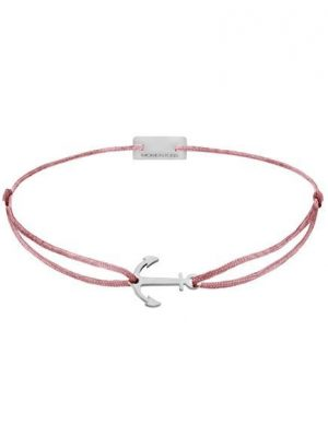 Momentoss Filo Armband - Textil - Rosa-Braun - rhodiniert - Anker - 21200576