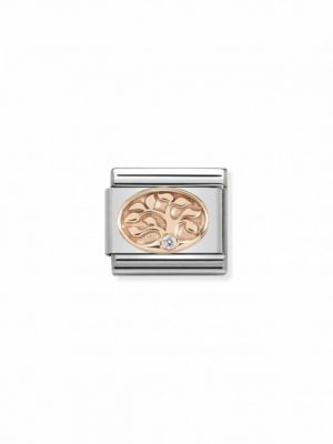 Nomination Charm - Lebensbaum - 430305/12 roségold